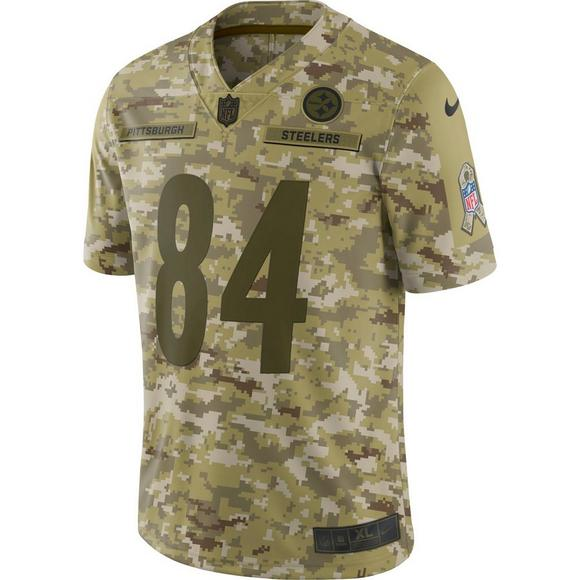 low priced d5511 aa873 Nike Men's Pittsburgh Steelers Antonio Brown Salute to ...
