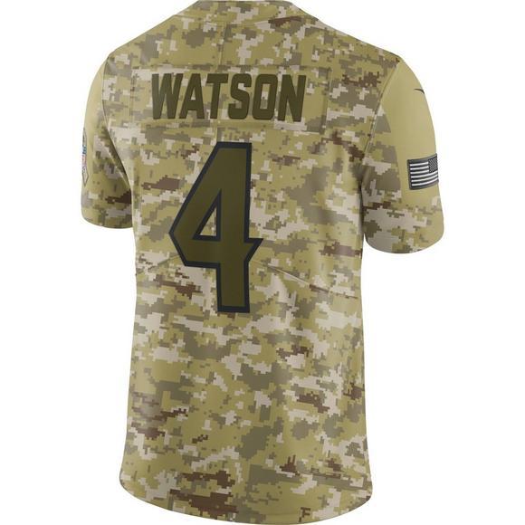 premium selection 57b6c 7e795 Nike Men's Houston Texans Deshaun Watson Salute to Service ...