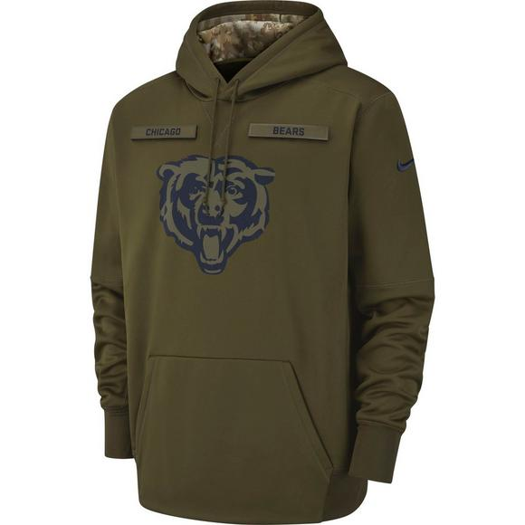 promo code 49647 b4344 Nike Men's Chicago Bears Salute to Service Therma Hoodie ...