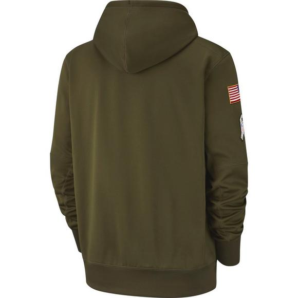 free shipping 2de4d fee57 Nike Men's Green Bay Packers Salute to Service Therma Hoodie ...