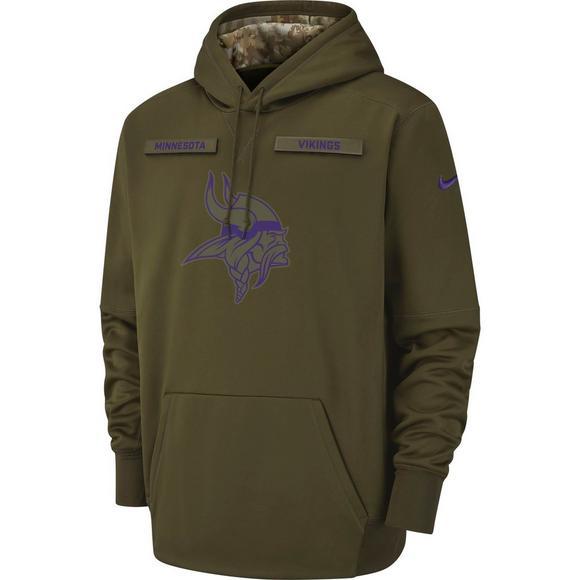 the latest f704d cb85a Nike Men's Minnesota Vikings Salute to Service Therma Hoodie ...