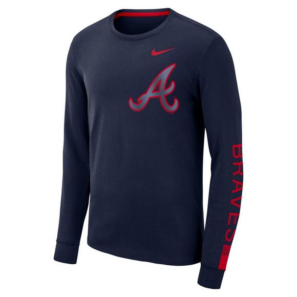 best authentic 9d259 e1f61 Nike Men's Atlanta Braves Heavyweight Cotton Long Sleeve T ...
