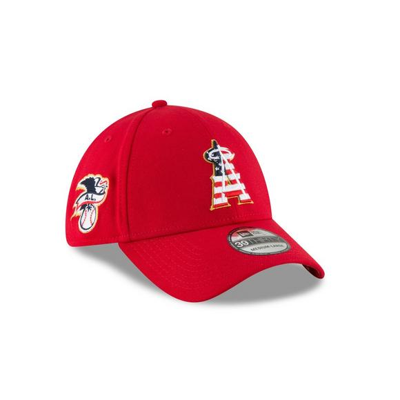 brand new 0e9ff 1165a New Era Los Angeles Angels 4th of July 39THIRTY Stretch-Fit Hat - Main  Container