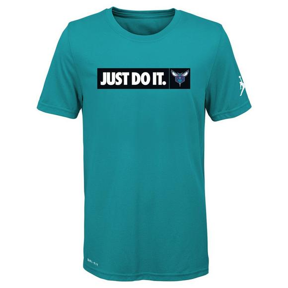 bfb91a11a08b08 Jordan Youth Charlotte Hornets Dri-Fit Just Do It T-Shirt - Main Container