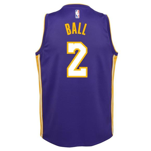Nike Youth Lonzo Ball Los Angeles Lakers Icon Swingman Jersey - Main  Container Image 2 7a12b9fb9