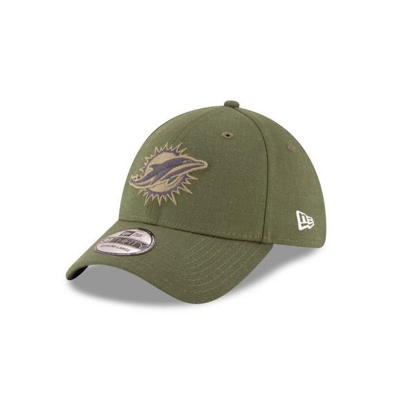 New Era Miami Dolphins Salute to Service 39THIRTY Stretch Fit Hat - Main  Container Image 1 5e5c94629
