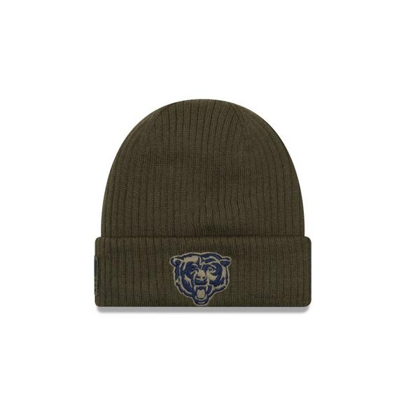 quality design 235e4 7f2fb New Era Chicago Bears Salute to Service Knit Hat - Hibbett ...
