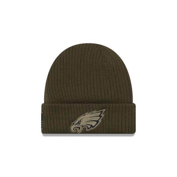 new product 7b752 a1abc New Era Philadelphia Eagles Salute to Service Knit Hat ...