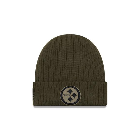 newest c6a6c bcb20 New Era Pittsburgh Steelers Salute to Service Knit Hat ...