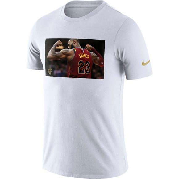 new product 62340 90d9a Nike Men's Cleveland Cavaliers Lebron James Dry MVP T-Shirt ...