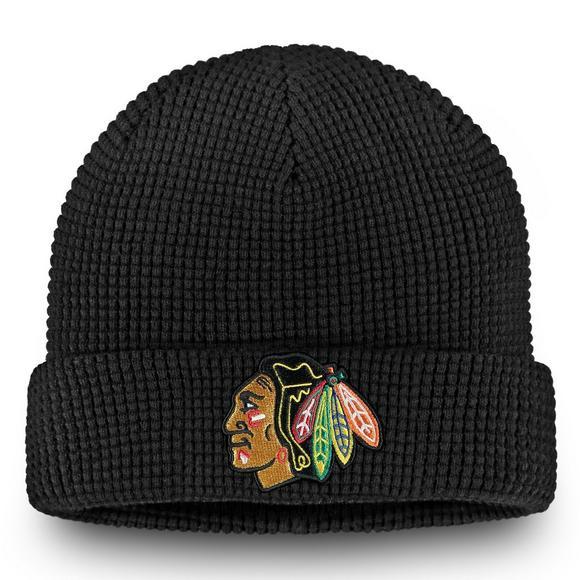 finest selection 56b67 134d2 Fanatics Chicago Blackhawks Waffle Cuffed Knit Beanie ...