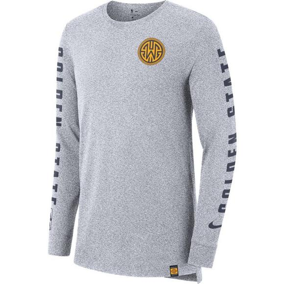 8ee96c62 Nike Men's Golden State Warriors Dri-Fit Elevated City Edition Long Sleeve  Tee - Main