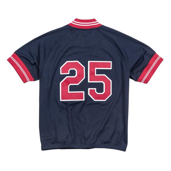 de45737c53 Mitchell   Ness Men s J. Thome Cleveland Indians Cooperstown Collection 1 4  Zip Batting