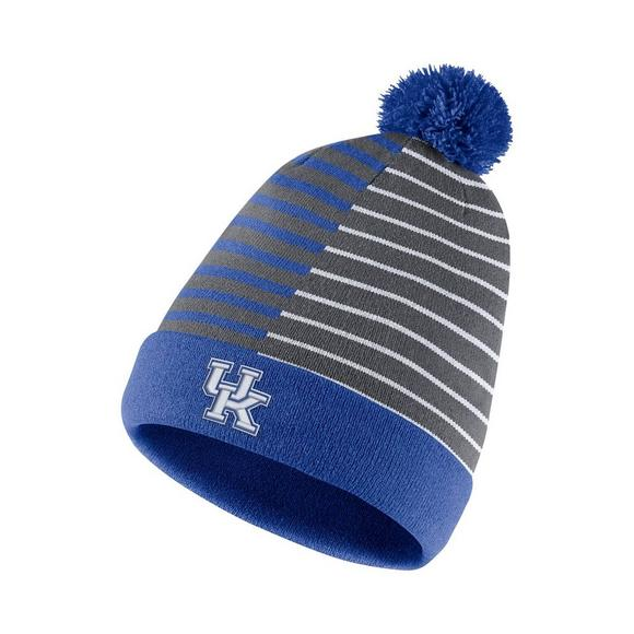 separation shoes 5e013 7d84b Nike Kentucky Wildcats Beanie Striped Knit Hat - Main Container Image 1