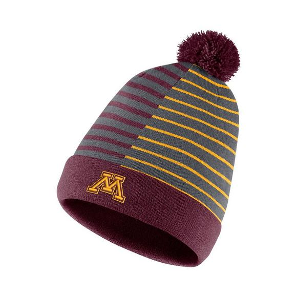 new arrival cd1cd 83615 ... australia nike minnesota golden gophers beanie striped knit hat main  container image 1 4c340 33805