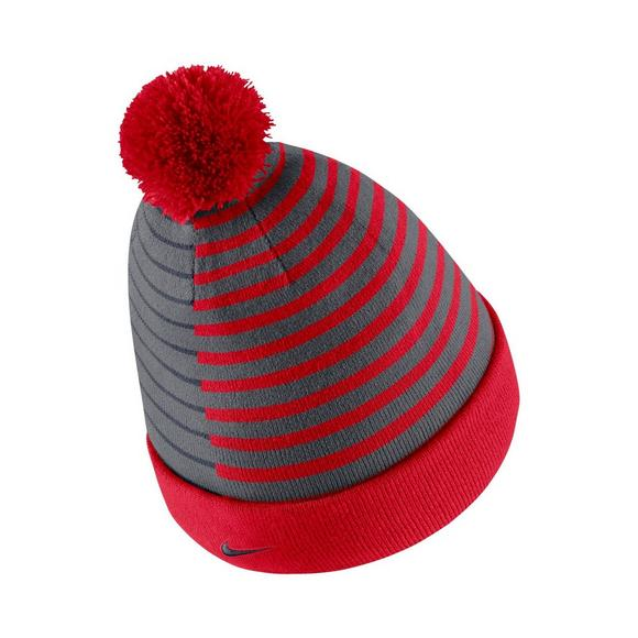 new styles f03e4 6c762 Nike Ole Miss Rebels Beanie Striped Knit Hat - Main Container Image 2
