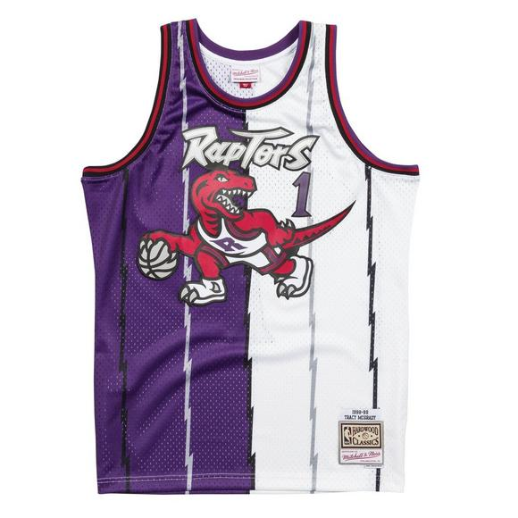 Mitchell   Ness Men s Tracy McGrady Toronto Raptors Split Hardwood Classics  Swingman Jersey - Main Container cd906f049