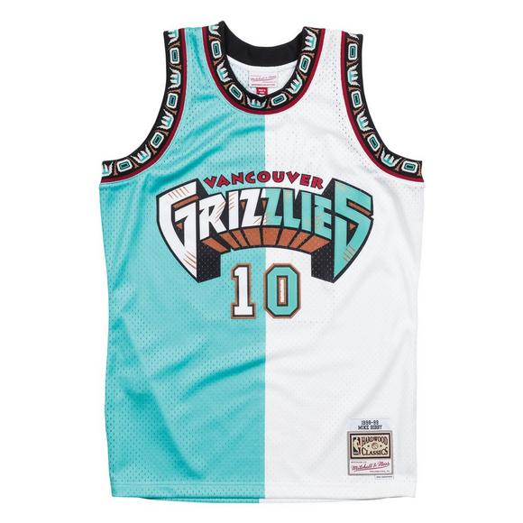 9e9b2fbb1 Mitchell   Ness Men s Mike Bibby Vancouver Grizzlies Split Hardwood  Classics Swingman Jersey - Main Container