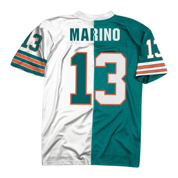 704f7723ecb Mitchell   Ness Dan Marino Miami Dolphins Throwback Split Jersey - Main  Container Image 2