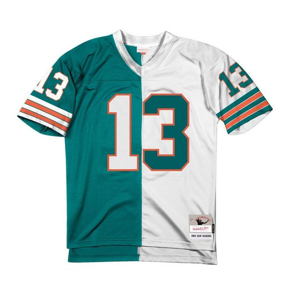 new concept 6e51a 64e8d Mitchell & Ness Dan Marino Miami Dolphins Throwback Split Jersey