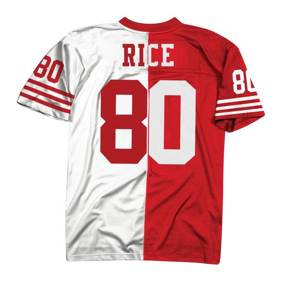 purchase cheap 48e36 bc7db Mitchell & Ness Jerry Rice San Francisco 49ers 1990 Throwback Split Jersey