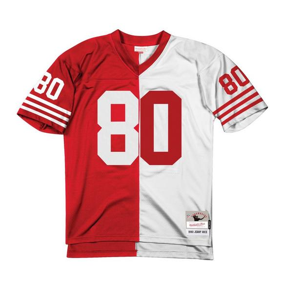 purchase cheap 61bec 235ab Mitchell & Ness Jerry Rice San Francisco 49ers 1990 Throwback Split Jersey