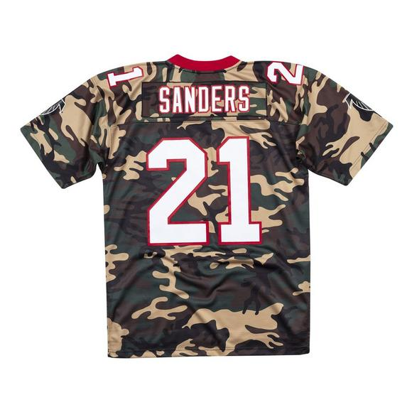 save off 333b3 2b095 Mitchell & Ness Men's Deion Sanders Atlanta Falcons Woodland ...
