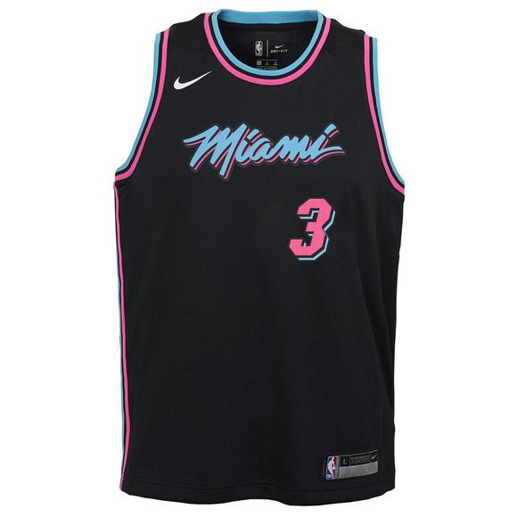 a9d596bef83 Nike Youth D. Wade Miami Heat City Edition Dri-Fit Swingaman Game Jersey -