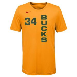 Nike Youth G. Antetokounmpo Milwaukee Bucks City Edition Dri-Fit Name    Number Short Sleeve Tee 1f2c10a81