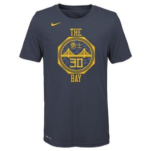 3412569a80c5 Nike Youth S. Curry Golden State Warriors City Edition Dri-Fit Name    Number Short Sleeve Tee