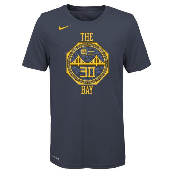 unique design 100% high quality new design Nike Youth S. Curry Golden State Warriors City Edition Dri ...