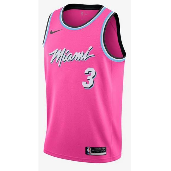 725baabc9 Nike Men s Miami Heat D. Wade Earned Edition Swingman Jersey - Main  Container Image 1