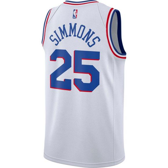 4f48d4b7 Nike Men's Philadelphia 76ers B. Simmons Earned Edition Swingman Jersey -  Main Container Image 2