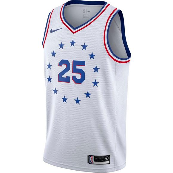 7f6651f7 Nike Men's Philadelphia 76ers B. Simmons Earned Edition Swingman Jersey -  Main Container Image 1