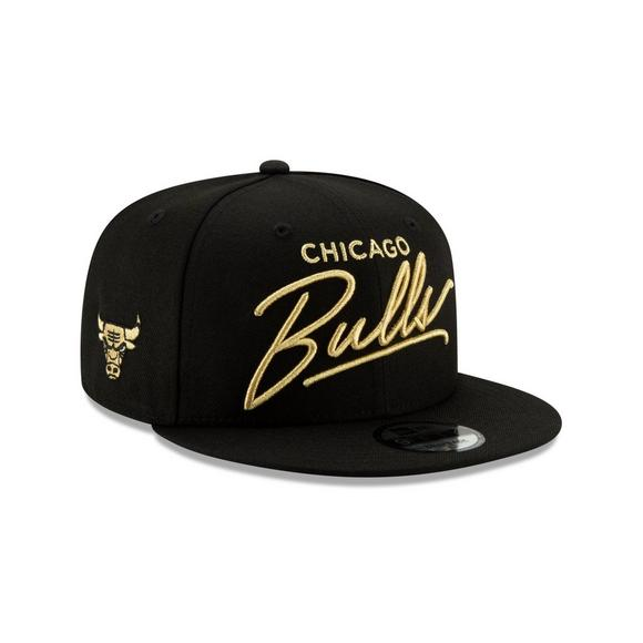 80eded69e7fcbf New Era Chicago Bulls 9FIFTY Scripted Snapback Hat - Main Container Image 2