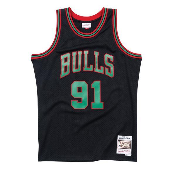 301ff064fd3 Mitchell   Ness Men s Dennis Rodman Chicago Bulls X-Mas Hardwood Classics  Swingman Jersey -