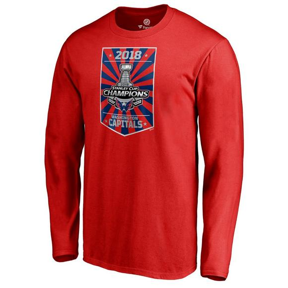 NHL Men s Washington Capitals 2018 Stanley Cup Champions Long Sleeve Locker  Room Tee - Main Container 7f83b27f8