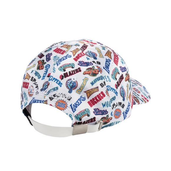 reputable site 0b0da 2f4cc Mitchell   Ness All-Over White Adjustable Dad Cap - Main Container Image 2