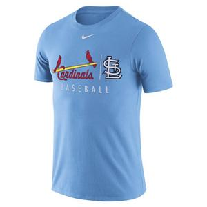 a4a26d8dace Extended Sizes. Nike Men s St. Louis Cardinals Dri-Fit Short Sleeve  Practice Tee - LT BLUE ...