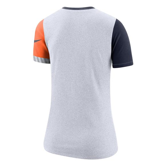 detailed look 6afb5 3a013 Nike Women's Houston Astros Dri-Fit Cotton Slub Crewneck Tee