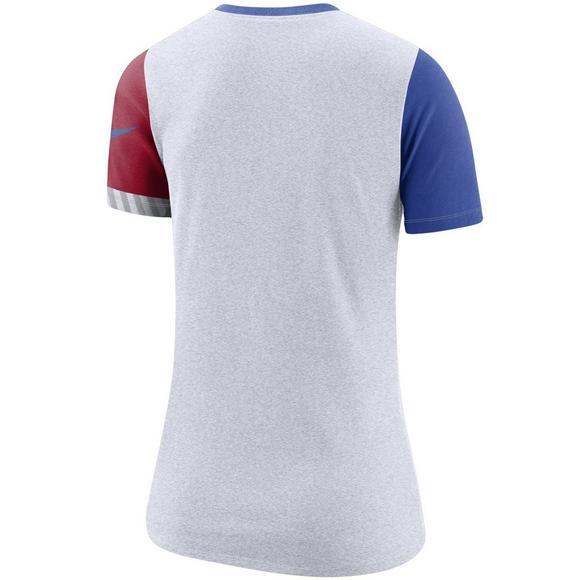 new style 759a0 219ce Nike Women's Chicago Cubs Dri-Fit Cotton Slub Crewneck Tee