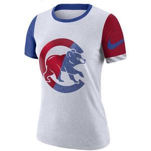 1699be13 Nike Women's Chicago Cubs Dri-Fit Cotton Slub Crewneck ...