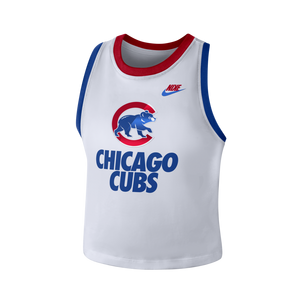 2bdd40d4bd1e68 Nike Women s Chicago Cubs Elevated Crop Tank Top