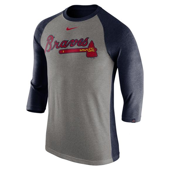 the best attitude f819a 75cd1 Nike Men's Atlanta Braves Raglan Tee