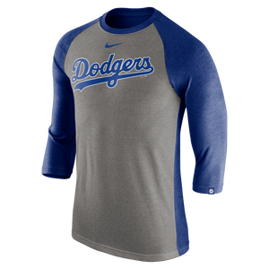 7e61f43719e4 Nike Men's Los Angeles Dodgers Tri-Blend Raglan Tee ...