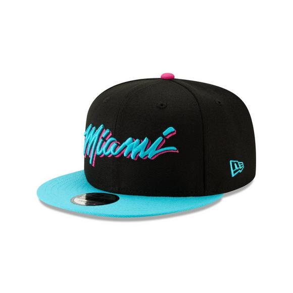 new arrival 92e97 bdbc5 New Era Miami Heat City Series 9FIFTY Snapback Hat - Main Container Image 1