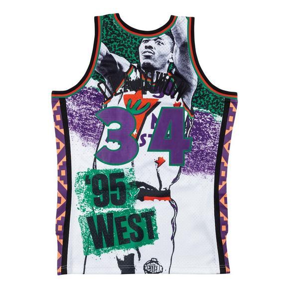 best website b650c a0820 Mitchell & Ness Hakeem Olajuwon Fashion All-Star West 1995 Hardwood  Classics Swingman Jersey
