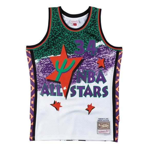 c6fc89b1680 Mitchell & Ness Hakeem Olajuwon Fashion All-Star West 1995 Hardwood  Classics Swingman Jersey -
