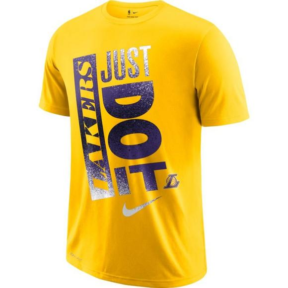 41d92bfb Nike Men's Los Angeles Lakers NBA Dri-Fit 'Just Do It' T-Shirt ...