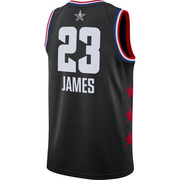 5fb9c711f81 Jordan Men s Los Angeles Lakers L. James 2019 All-Star Swingman Jersey -  Main
